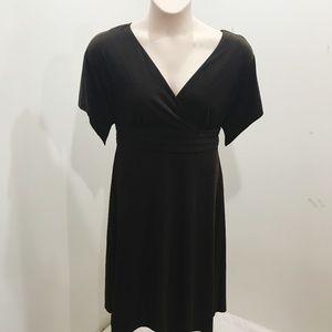Coldwater Creek Size 12 Dress Dark Brown Midi